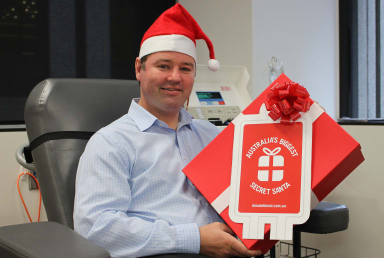 Doug Allen is one of the Christmas donors for the organisation. They are looking for others to join Doug to reduce the 4,500 donation shortage.