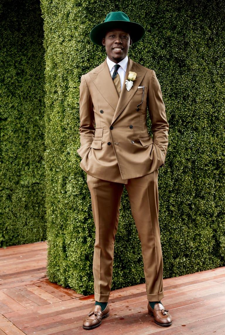 Take notes, lads ... Palmer Mutandwa's winning look.