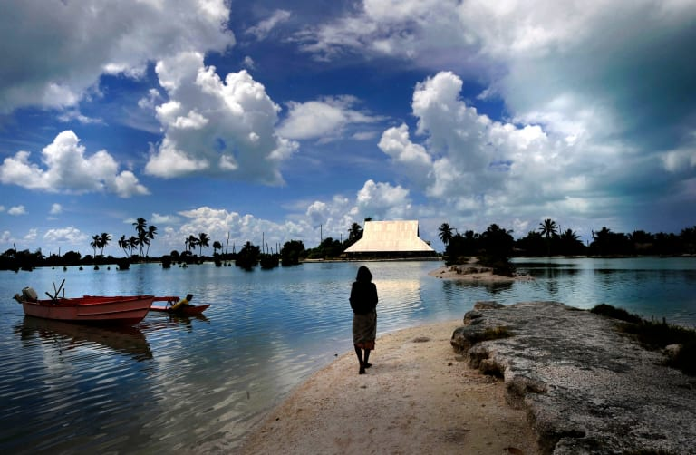 Low-lying Pacific islands are already dealing with rising sea levels as a result of climate change.