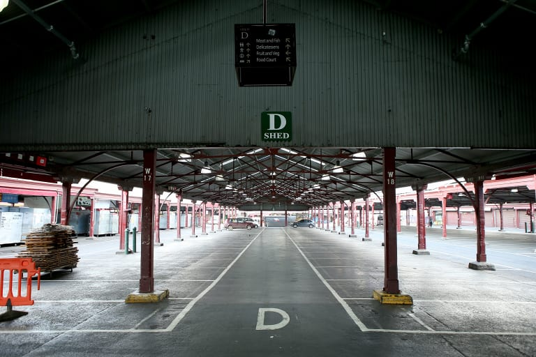 One of the heritage sheds Melbourne City Council wants to remove, restore, and dig beneath.