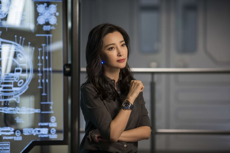 Li Bingbing stars with Jason Statham in The Meg, an action-adventure film about a giant prehistoric shark, in a piece of casting made very much with the Chinese audience in mind.
