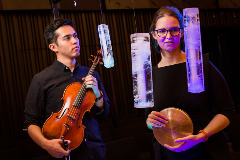 Ad Lib Collective's Thea Rossen, right, and Jared Yapp.