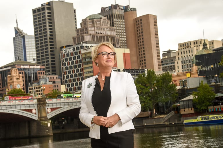 Property Council executive director Sally Capp at her Town Hall campaign launch in March.