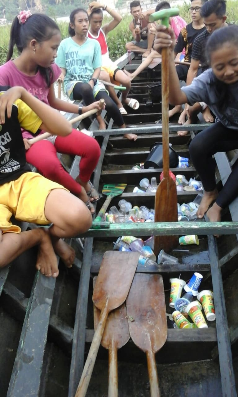 Children at al-Kausar kindergarten in Jambi, central Sumatra, can pay their school fees with rubbish.