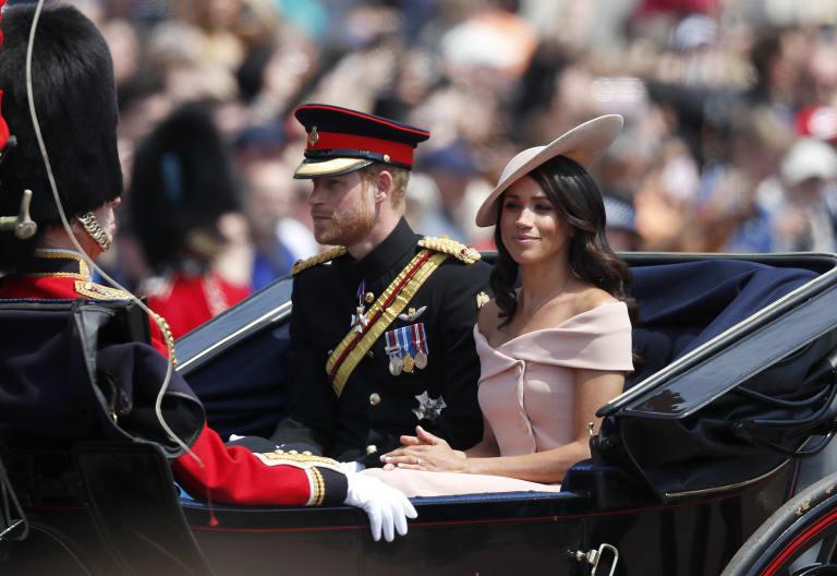 The Duchess of Sussex wore  a Carolina Herrera dress.