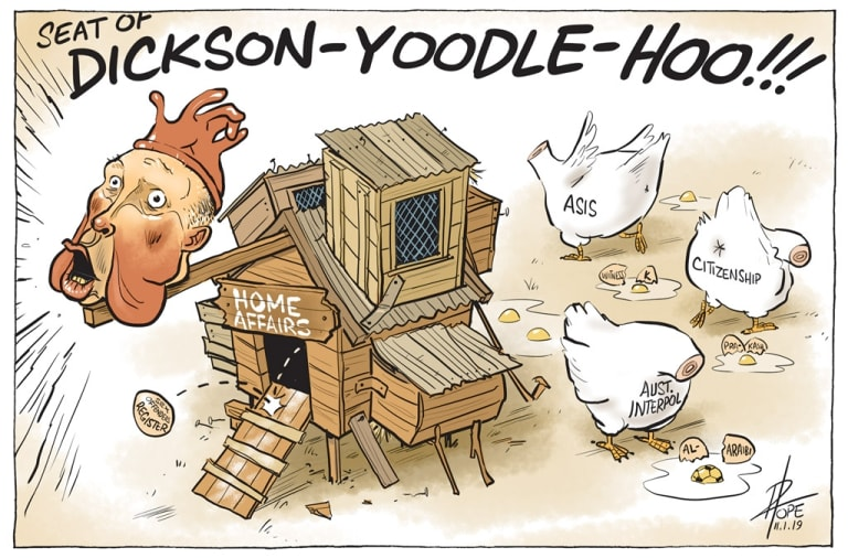The Canberra Times editorial cartoon for Friday, January 11, 2019.