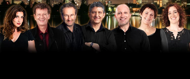 In 2014, 774 ABC - now called ABC Melbourne - hit No. 1 in the ratings. Left to right: Libbi Gorr, Red Symons, Jon Faine, Richard Stubbs, Rafael Epstein, Lindy Burns, Hilary Harper.