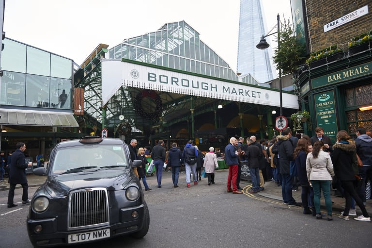 London's Borough Market was restored without losing its heritage values.
