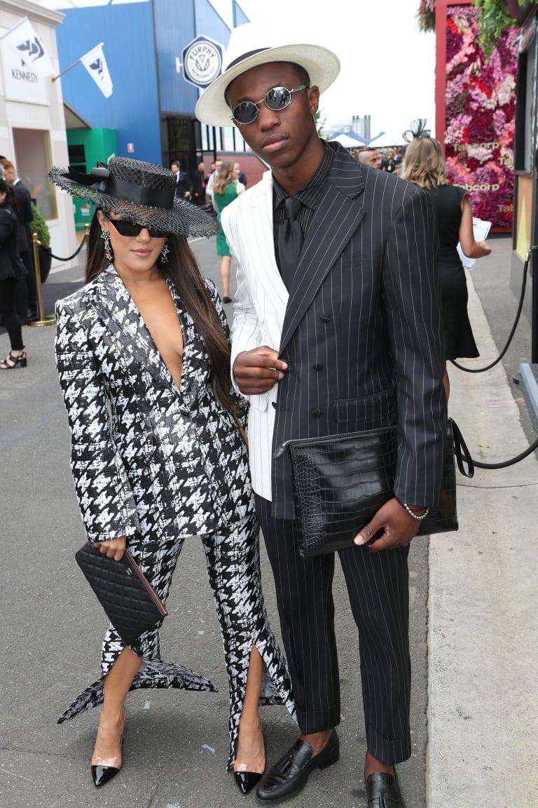 Go bold or go home ... Effie Kats with Shayne Tino.