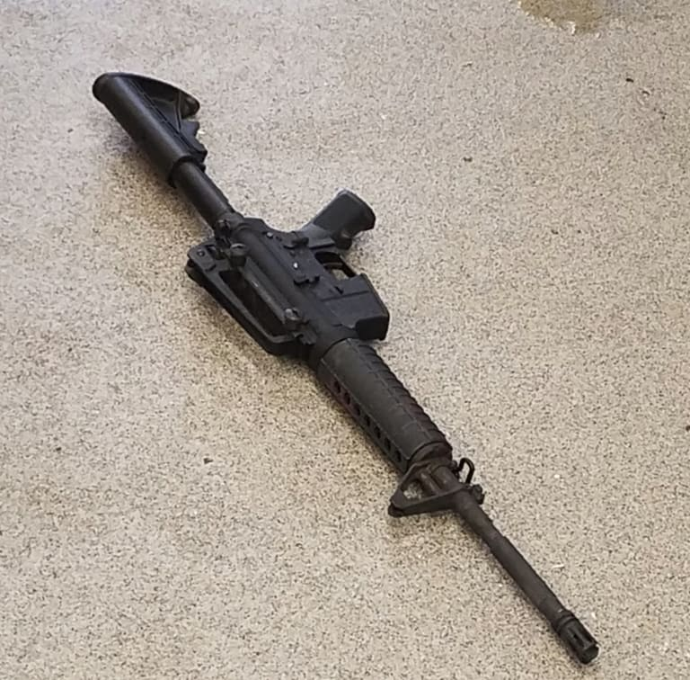 The rifle used in the deadly shooting.