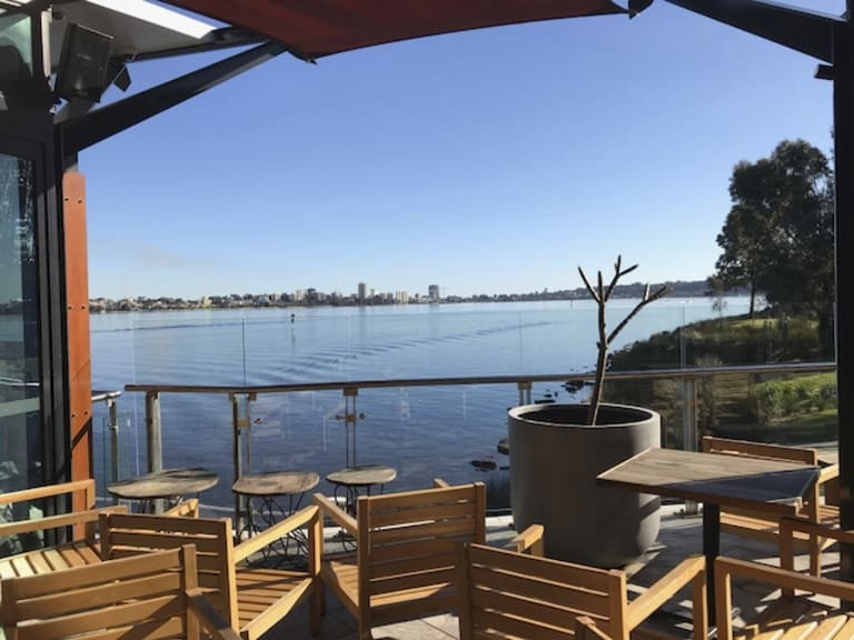 Ku De Ta's The Deck has amazing views over the Swan River.