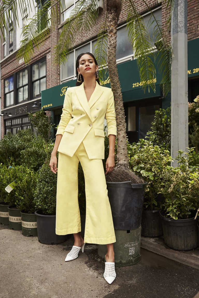 No wardrobe malfunctions for this Veronica Beard suit. And we know Meghan likes to wear trousers.