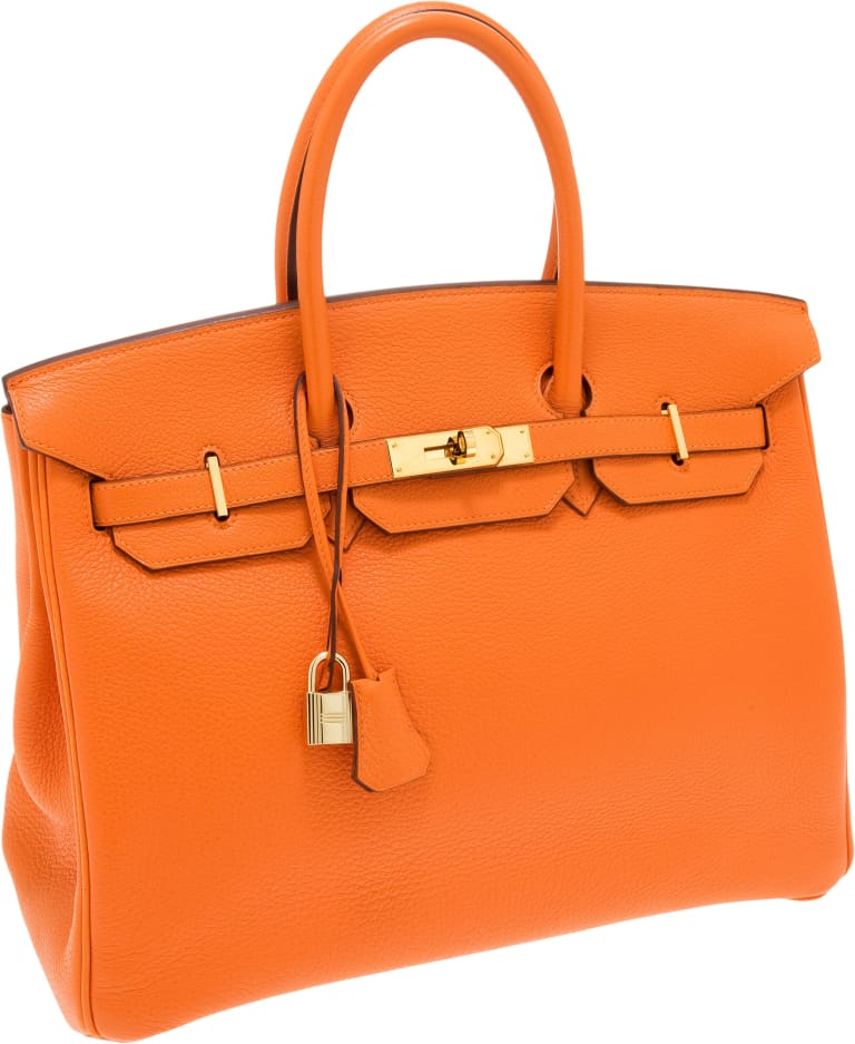 The iconic Hermes Birkin bag.
