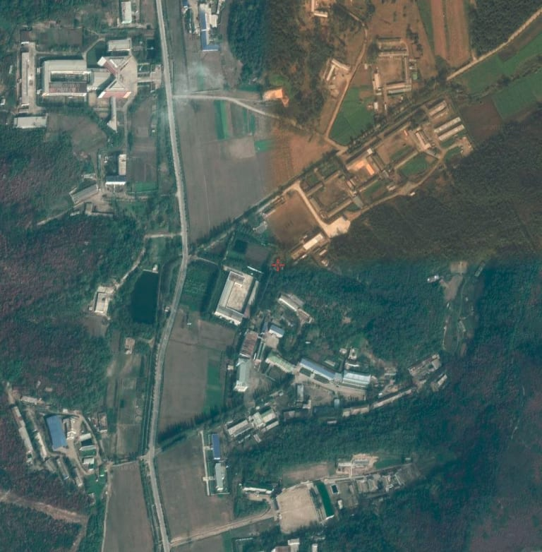 A commercial satellite image shows North Korea's Sanumdong missile site.