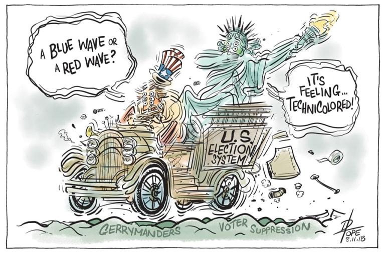 The Canberra Times' editorial cartoon for Thursday, November 8, 2018.