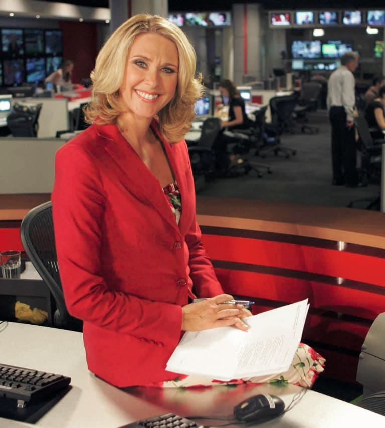 Back on the job at Sky News after thinking she'd never work again.