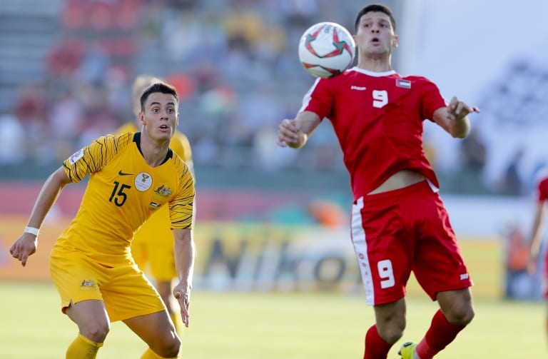 On the rise: Chris Ikonomidis has made a sensational start to his first Asian Cup with the Socceroos.