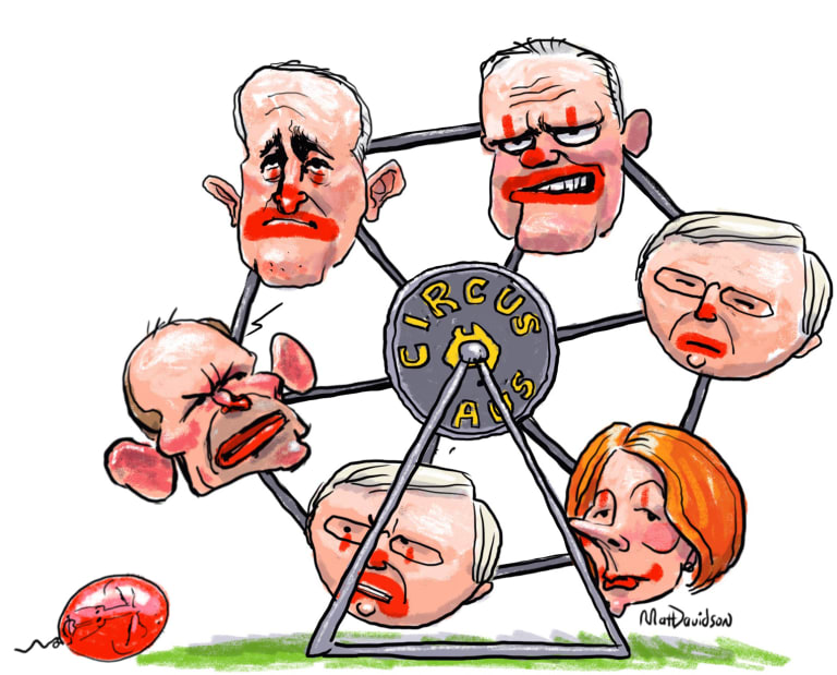 Circus Aus... the many recent prime ministers of Australia.