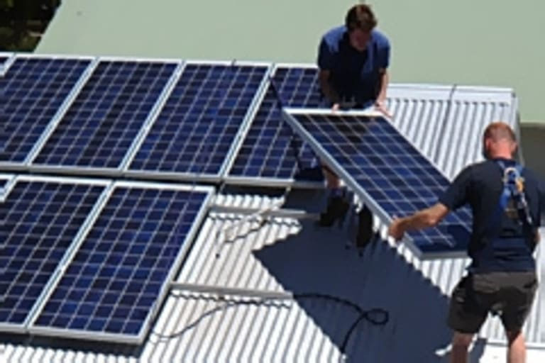 Installing solar panels are going through a boom.