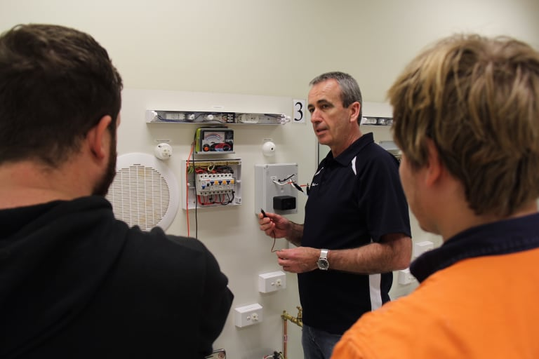 Geoff Clisby says his background in the trade makes him a better teacher for apprentice electricians.