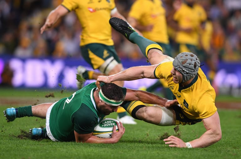 Like he never left: David Pocock was immense for Australia in defence, 18 months since he played his last Test.