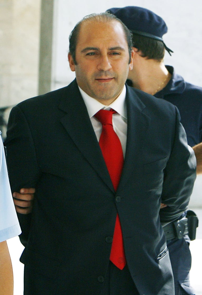 Fugitive drug smuggler Tony Mokbel, a client of Stary, at the Supreme Court in Athens, Greece, October, 2007.