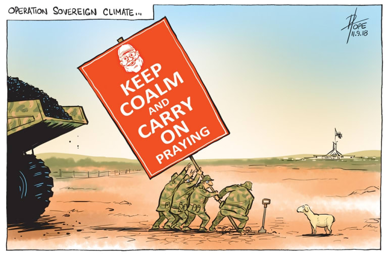 The Canberra Times. David Pope's editorial cartoon for September 11, 2019.