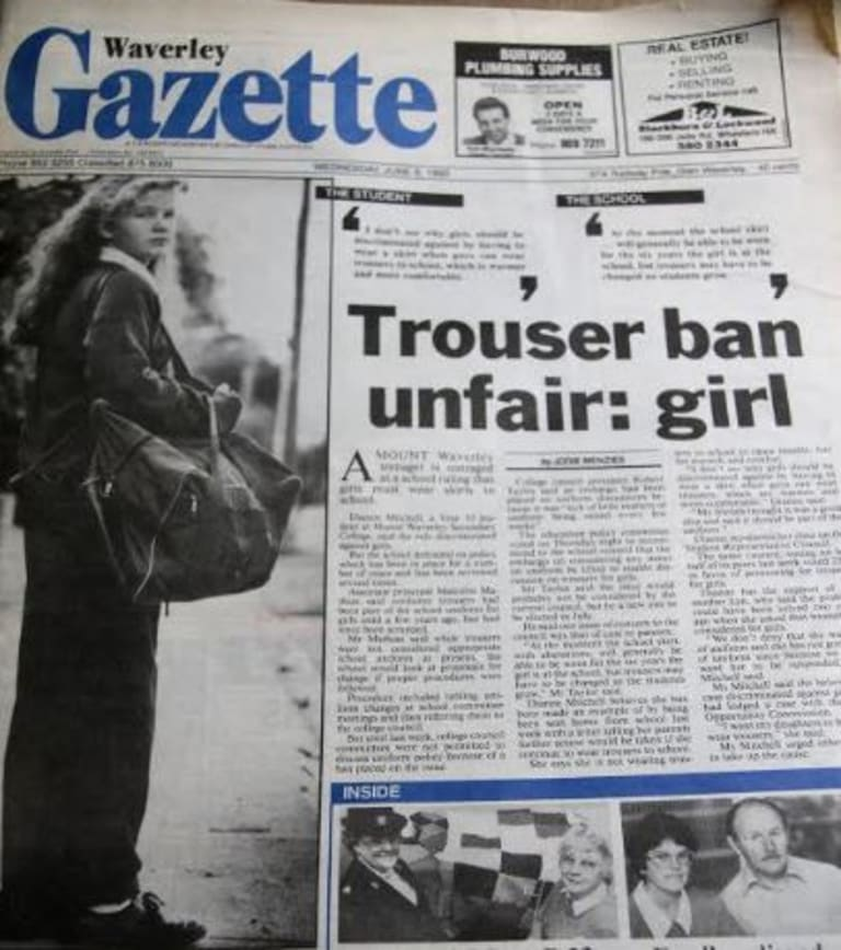 Dianne Mitchell made the front page of the local newspaper in 1993.