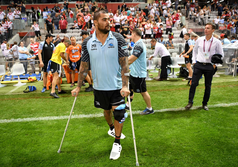 Better than expected: Andrew Fifita has been cleared of a serious knee injury.