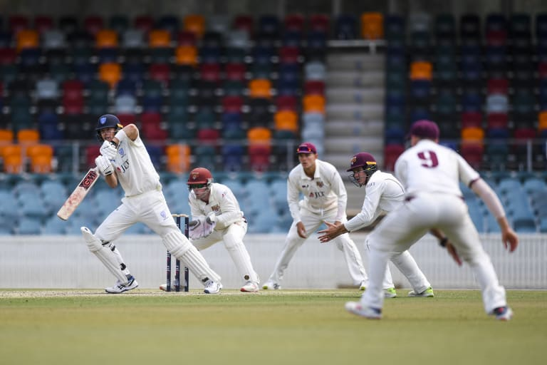The Sheffield Shield match between NSW and Queensland was a perfect dress rehearsal for Canberra's first Test.