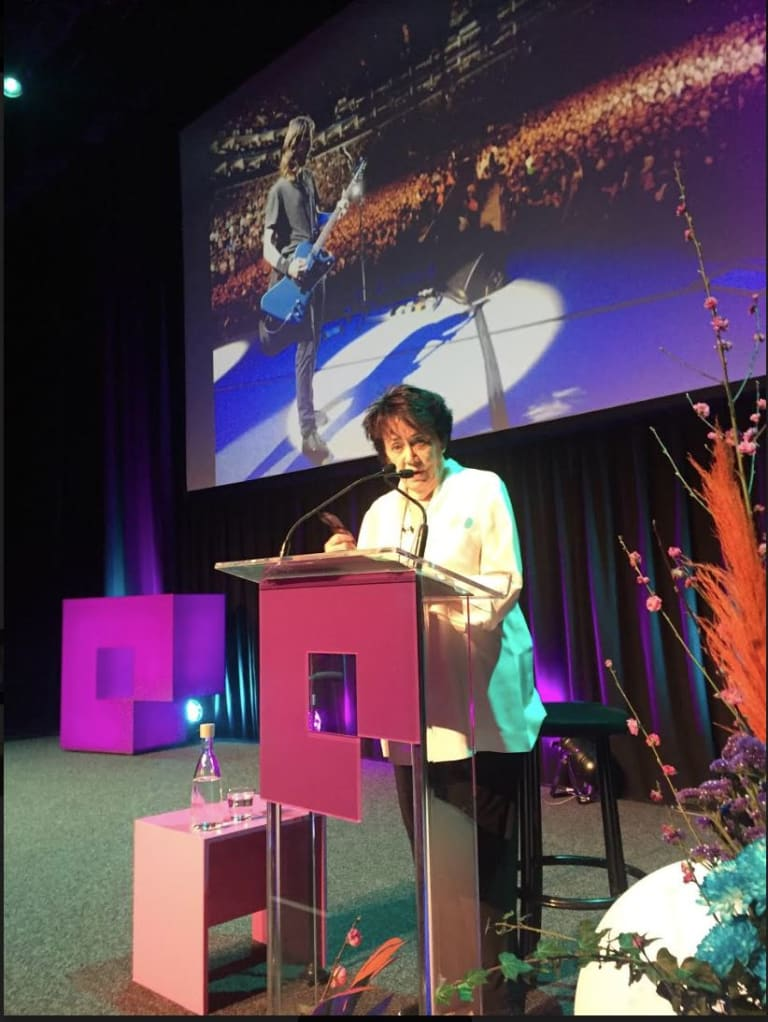 Dave Grohl's mum, Virginia Hanlon Grohl, was a keynote speaker at Bigsound.