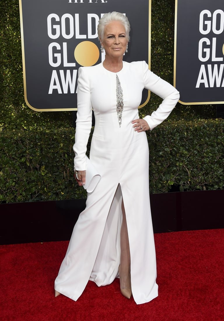 Jamie Lee Curtis at the Golden Globes.