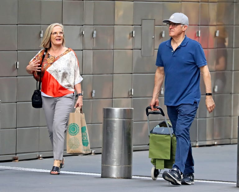 Malcolm and Lucy Turnbull have retreated to New York after the Liberal leadership crisis ended Mr Turnbull's prime ministership.