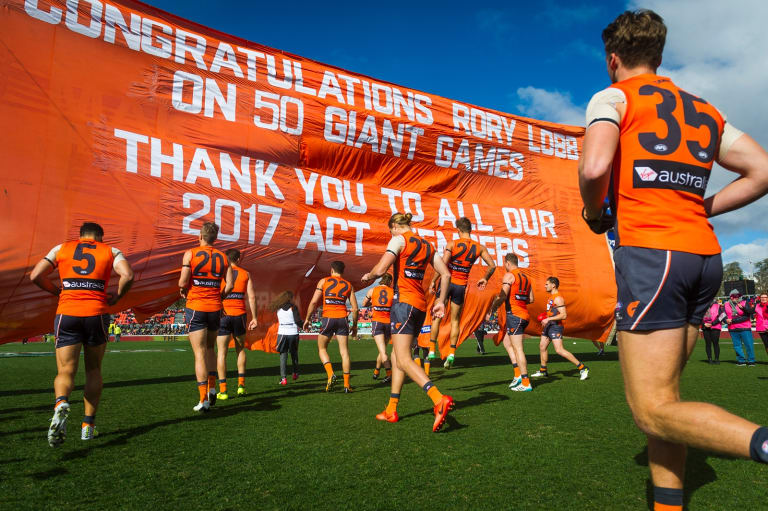 The Giants have made a second home in Canberra.