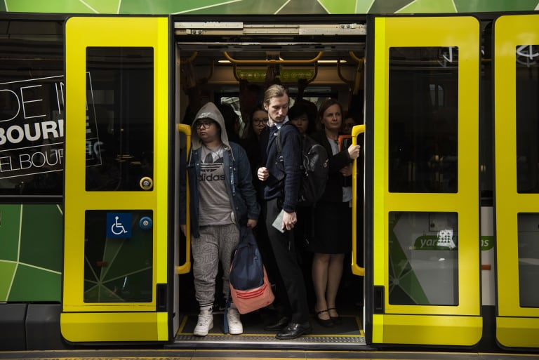 The level of train and tram overcrowding increased this year.