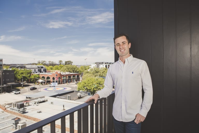 Real estate agent Adrian Stroh has recently bought a new apartment in Braddon.