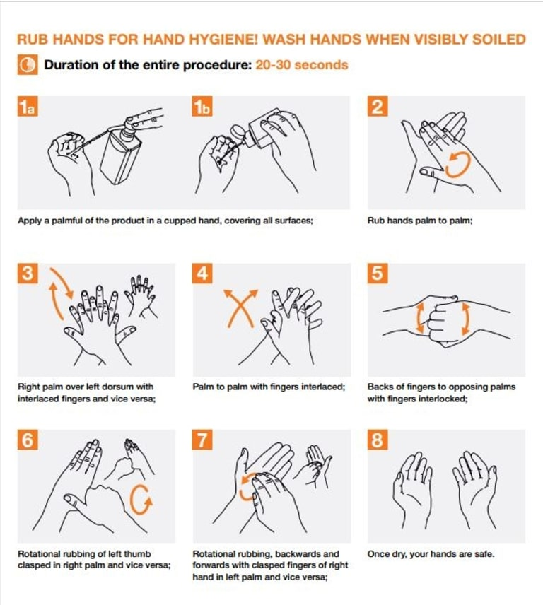 The new WHO instructions on how to best wash your hands