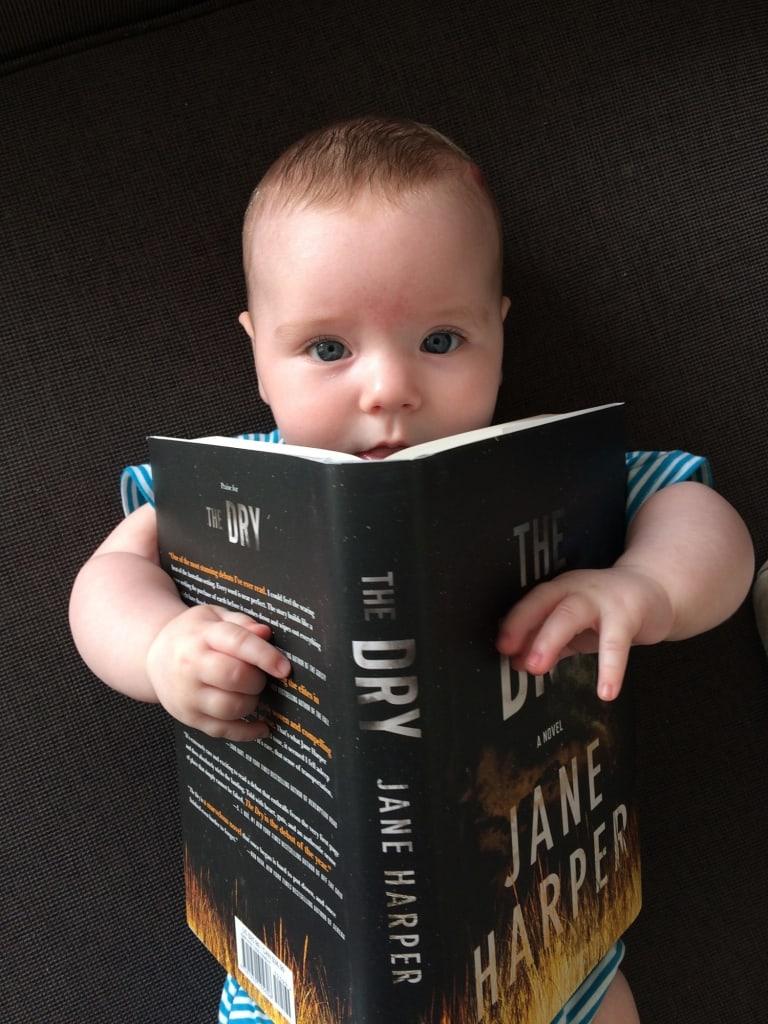 Harper's daughter Charlotte samples Mum's debut novel.