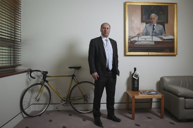 Treasurer Josh Frydenberg, pictured in his Parliament House office, has sent a warning to Australia's financial services regulators.