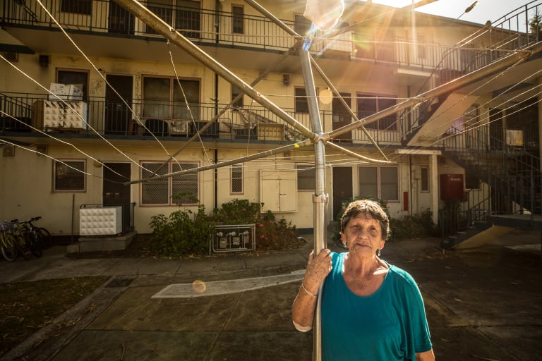 Irene Taylor, 79, has lived in West Brunswick's Gronn Place housing estate for 17 years. She is to be relocated - but doesn't know where to yet.