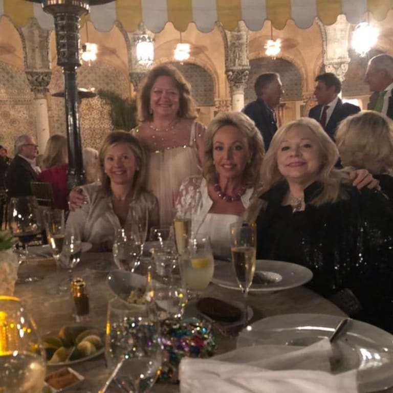 Gina Rinehart and her fellow 'Trumpettes' at President Donald Trump's Florida estate Mar-a-Lago.