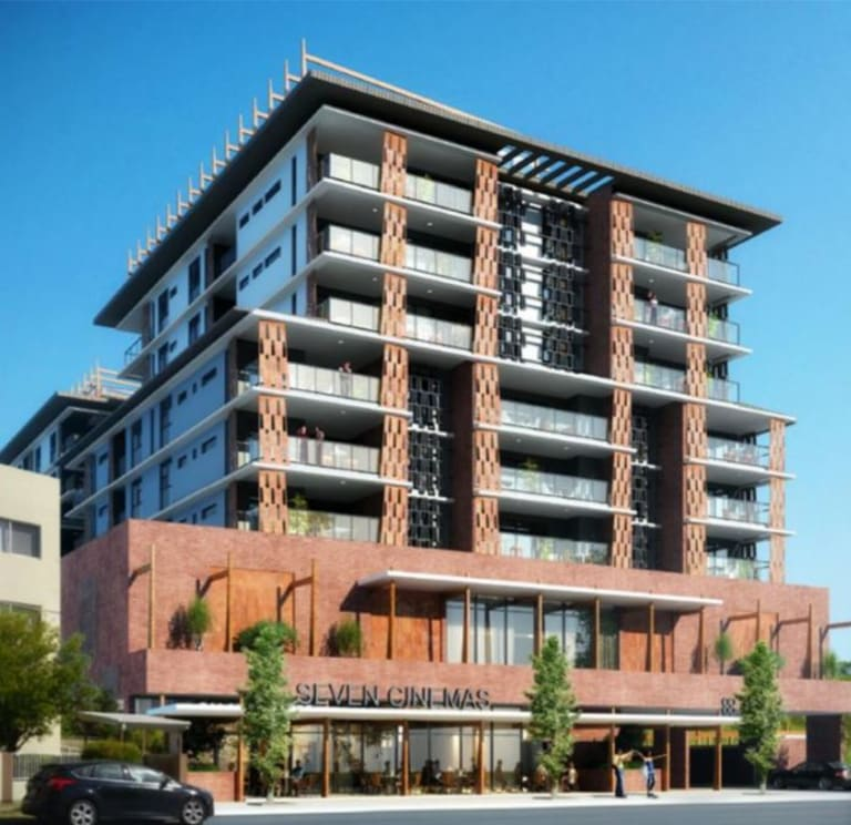 A seven-cinema complex with residential above has been approved at Wynnum.
