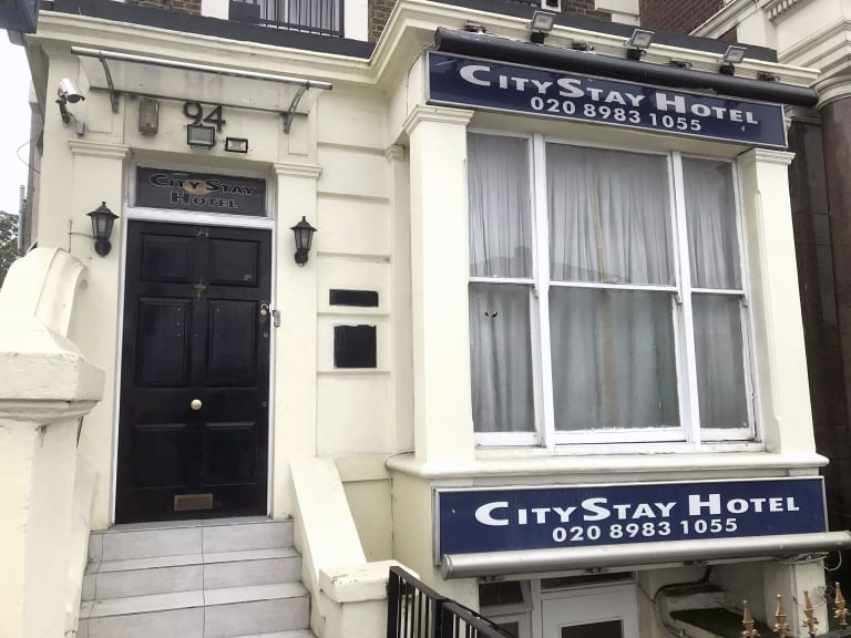 The CityStay hotel, where the two Russian nationals stayed before they traveled to Salisbury.