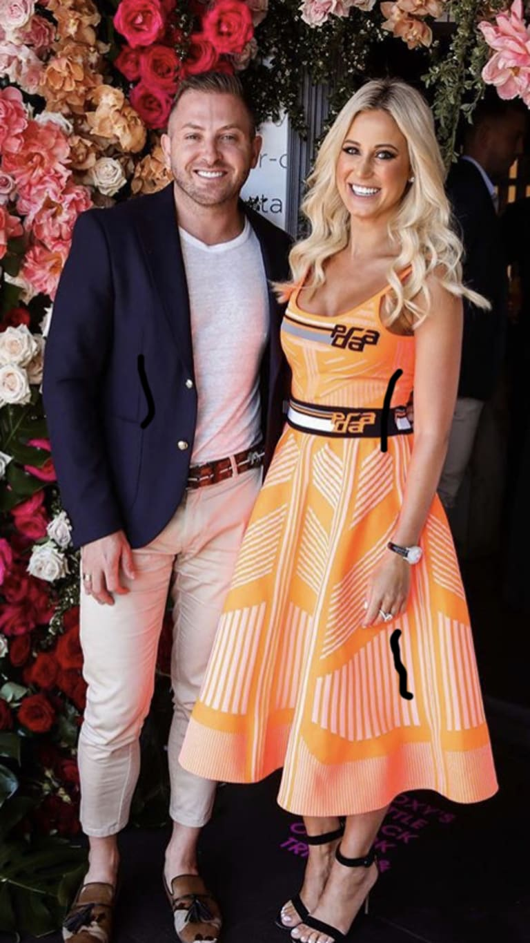 """John Caldwell, all smiles on Wednesday on Instagram with his """"publicist"""" Roxy Jacenko following his abrupt departure from KISS FM, just 24 hours prior."""
