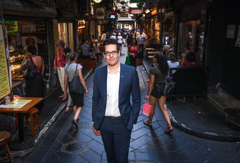 The Greens' candidate for lord mayor, sitting Melbourne City councillor Rohan Leppert.
