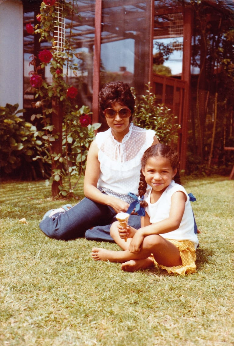 Janice Petersen with her mum, Muriel.