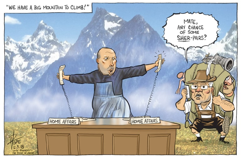 The Canberra Times editorial cartoon for September 12, 2018.