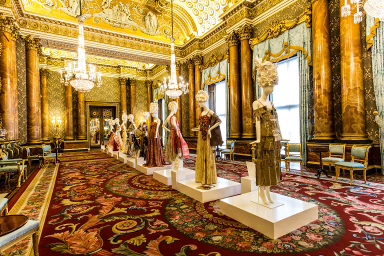 Designs by 26 Commonwealth countries at the EcoAge Fashion Exchange at Buckingham Palace.