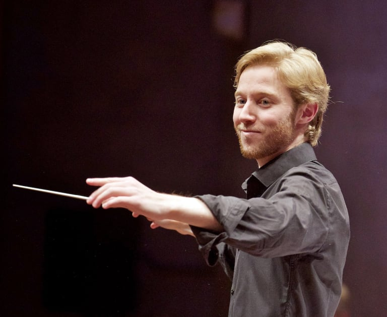 Conductor Leonard Weiss loves the rapport he builds up with an orchestra.