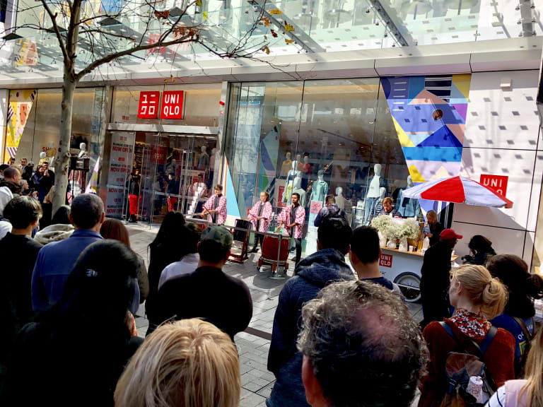 Japanese drummers entertained the crowd.